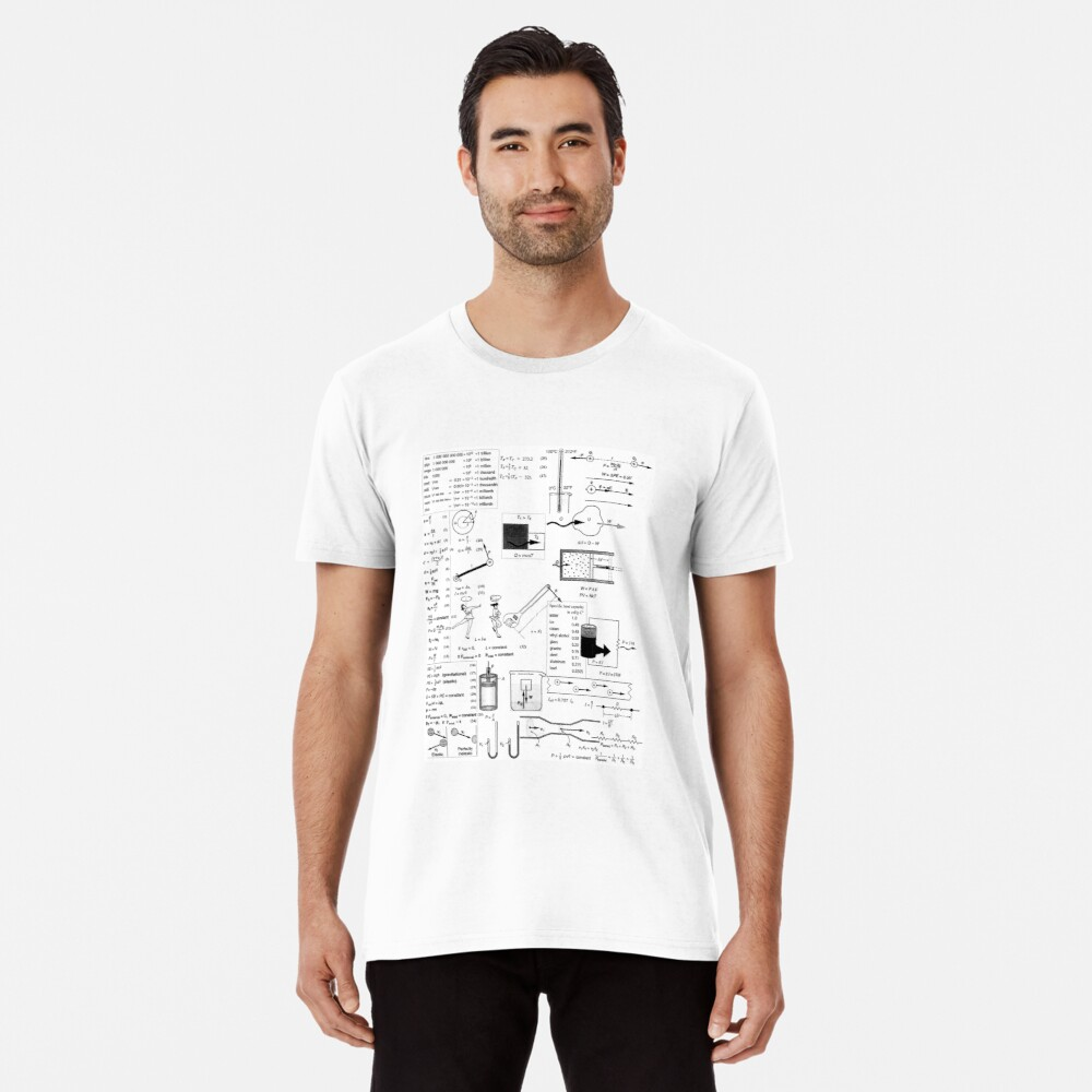 General Physics Formula Set, ssrco,mens_premium_t_shirt,mens,fafafa:ca443f4786,front,square_three_quarter,x1000-bg,f8f8f8