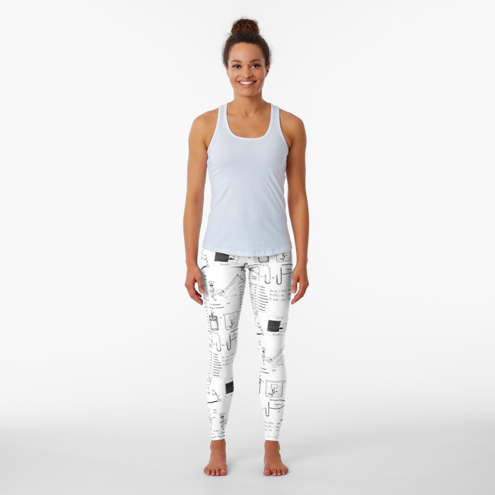 General Physics Formula Set, ur,leggings_womens_front,square,1000x1000-bg,f8f8f8
