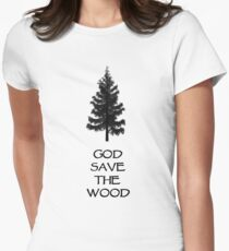 God Sae the Wood Women's Fitted T-Shirt