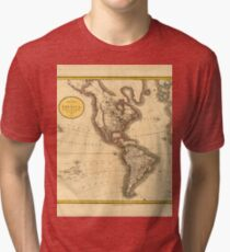 A new map of America, from the latest authorities Tri-blend T-Shirt