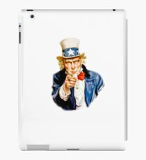 Uncle Sam I want You Recruiting Military Art by James Montgomery Flagg iPad Case/Skin