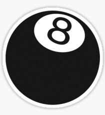 Ball number 8 Sticker