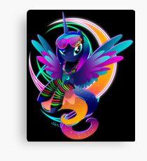 Synthwave Princess Luna Canvas Print