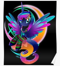 Synthwave Princess Luna Poster