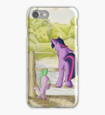 Twilight and Spike in Hundred Acre Wood iPhone Case/Skin