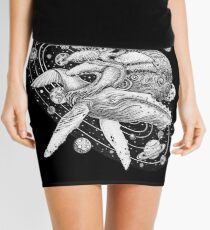 Space Whale Mini Skirt