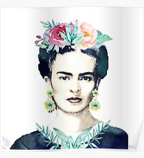 Watercolor Frida Kahlo  Poster