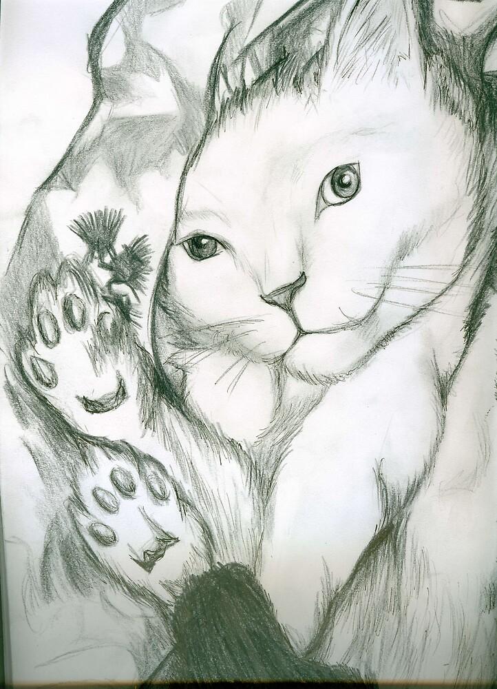 Feline Coyness by flashatasha