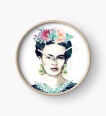 Watercolor Frida Kahlo  Clock