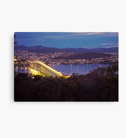Dusk, Tasman Bridge Canvas Print