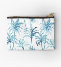 Watercolor blue palm trees pattern California Studio Pouch