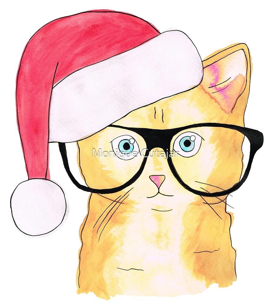 Christmas Cat by Monique Cutajar