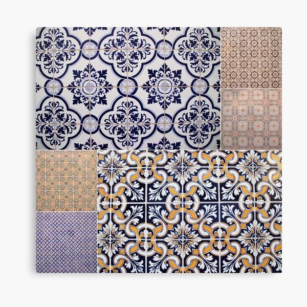 Portuguese Tile Collage Canvas Print