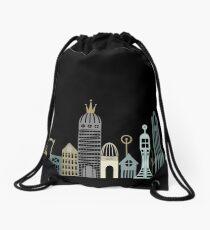 Hipster Cityscape Drawstring Bag