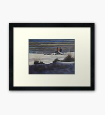 Shared Moments on the Beach Framed Print