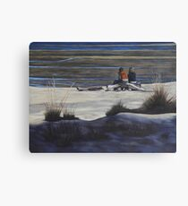 Shared Moments on the Beach Canvas Print
