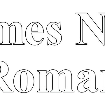 TIMES NEW ROMAN (BLACK OUTLINE) by jarmandesign
