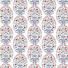 Turkish Delight Ceramic Tile Boho Pattern by taiche