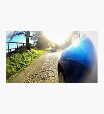 Subaru WRX country road Photographic Print