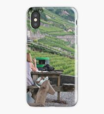 lunch and wine on the vineyard iPhone Case/Skin