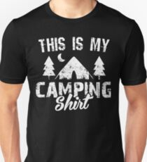 This Is My Camping Shirt - Funny Vintage Camping T-Shirt