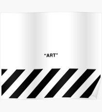 OFF-WHITE Inspired Simple Wording Illustration White Poster