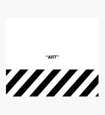 OFF-WHITE Inspired Simple Wording Illustration White Photographic Print