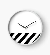 OFF-WHITE Inspired Simple Wording Illustration White Clock