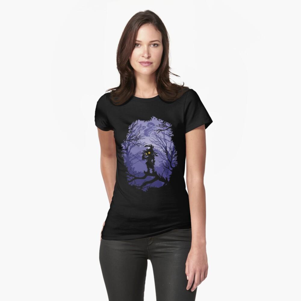 Máscara de Zelda Majora Skullkid Camiseta entallada