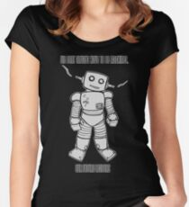 Robot Machines Black Women's Fitted Scoop T-Shirt