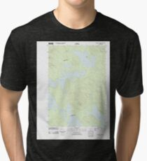 Maine USGS Historical Map Scraggly Lake 20110829 TM Tri-blend T-Shirt