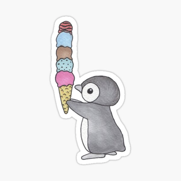 Ice Cream Penguin Sticker