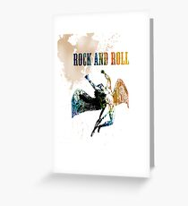 ROCK AND ROLL - ICARUS THROWS THE HORNS Greeting Card