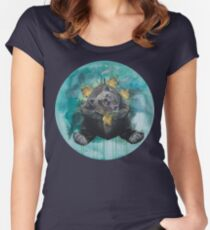 Lice in the fur - bear, Gaia, mother Earth Women's Fitted Scoop T-Shirt