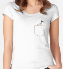 Pocket Bin Chicken Women's Fitted Scoop T-Shirt