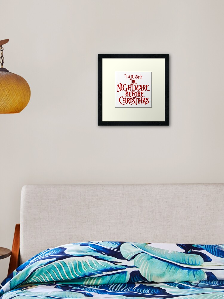 Nightmare Before Christmas Oogie Boogie Trouble Framed /& Mounted Print