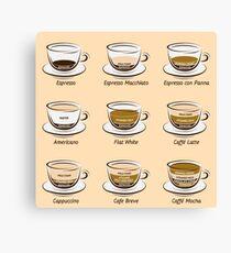 Kaffee Leinwanddruck