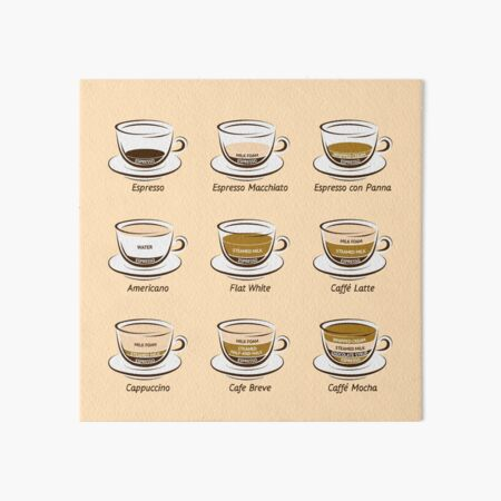 Coffee Art Board Print