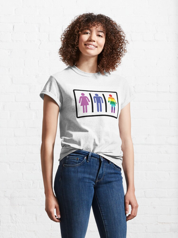 Alternate view of Lady boy Sign Classic T-Shirt