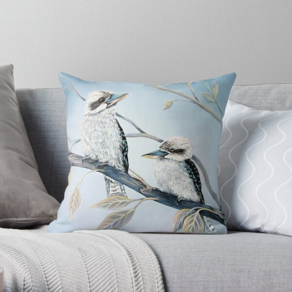 Cool Kookaburras Throw Pillow