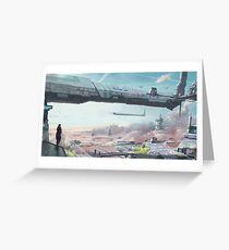 Star Citizen Stanton Crusader Artwork Greeting Card