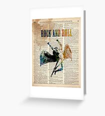 ROCK AND ROLL - ICARUS THROWS THE HORNS #D Greeting Card