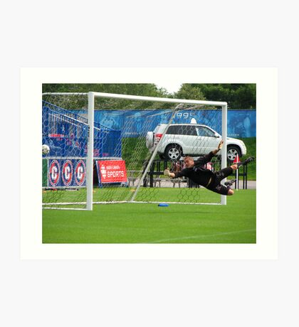 Pro Goalie Practice  Art Print