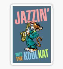 Jazzin' With The Kool Cat Sticker
