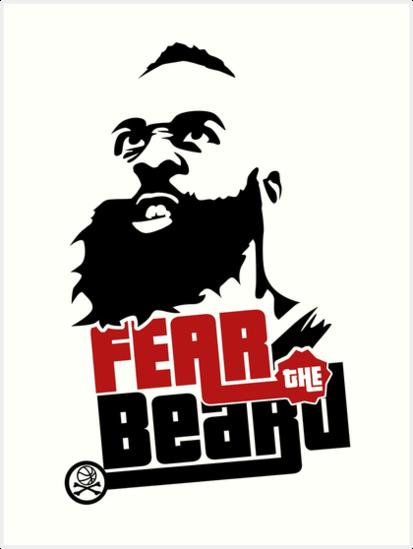 James harden fear the beard logo - photo#29