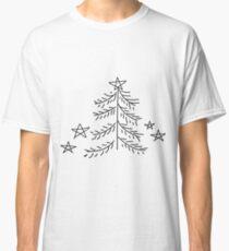 Christmas tree and stars Classic T-Shirt