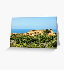 Torrey Pines California - Chaparral on the Coastal Cliffs Greeting Card