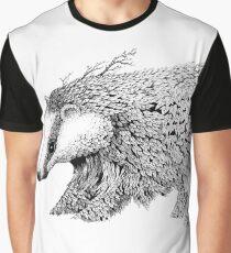 Leaf Badger Graphic T-Shirt