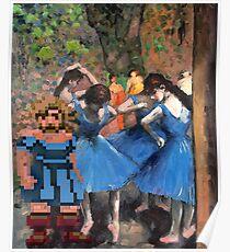 Guybrush dancer in blue Poster