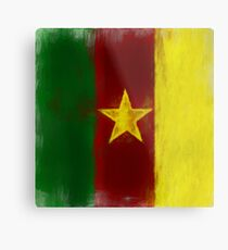 Cameroon Flag Reworked No. 1, Series 2 Metal Print